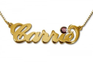 500x500px 7 Popular Carrie Nameplate Necklace Picture in Jewelry