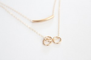 Jewelry , 7 Awesome Gold Disc Monogram Necklace :  necklaces for men