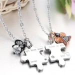 necklaces for women , 8 Lovely Matching Puzzle Piece Necklace In Jewelry Category