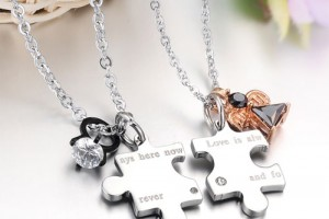 Jewelry , 8 Lovely Matching Puzzle Piece Necklace :  necklaces for women