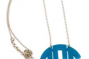 Jewelry , 8 Best Acrylic Block Monogram Necklace :  necklaces for women