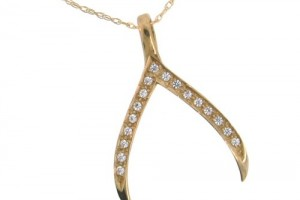 500x500px 8 Charmming 14k Gold Wishbone Necklace Picture in Jewelry