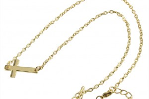 Jewelry , 8 Fabulous Sideways Gold Cross Necklaces For Women :  necklaces for women