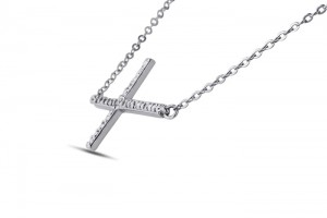 Jewelry , 8 Awesome Cross Necklaces For Women Sideways : necklaces silver necklaces