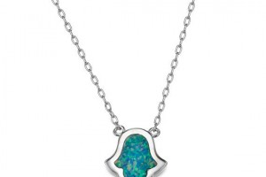 Jewelry , 7 Excellent Blue Opal Hamsa Necklace : opal hamsa