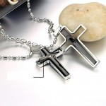 pearl necklace , 7 Fabulous Engravable Cross Necklace For Men In Jewelry Category