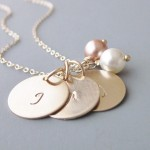 pearl necklace , 8 Charming Initial Necklace For Moms In Jewelry Category