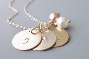 723x584px 8 Charming Initial Necklace For Moms Picture in Jewelry