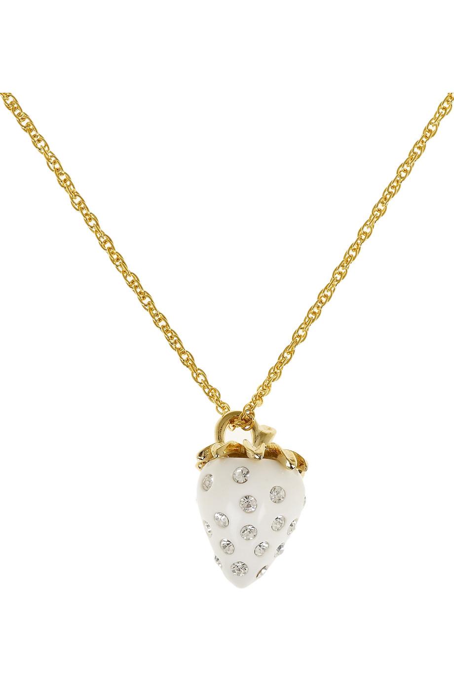 8 Wonderful Kenneth Jay Lane Strawberry Necklace in Jewelry