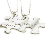 puzzle piece necklaces , 8 Lovely Matching Puzzle Piece Necklace In Jewelry Category