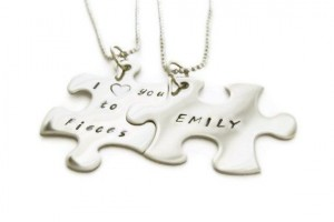 Jewelry , 8 Lovely Matching Puzzle Piece Necklace : puzzle piece necklaces