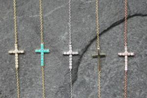 Jewelry , 8 Fabulous Roseark Sideways Cross Necklace : roseark sideways cross