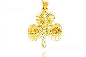 Jewelry , 8 Charming Diamond Shamrock Necklace : shamrock pendant