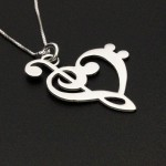 silver jewelry , 8 Charming G Clef Necklace In Jewelry Category