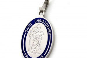 Jewelry , 8 Beautiful ST Christopher Protect Us Necklace :  silver jewelry