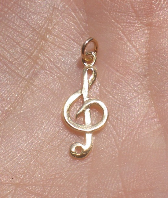 8 Charming G Clef Necklace in Jewelry