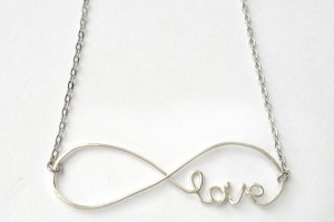 Jewelry , 8 Gorgeous Cursive Love Necklace :  silver ring