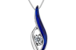 Jewelry , 8 Charming Sirena Diamond Necklace : sirena diamond and blue ceramic