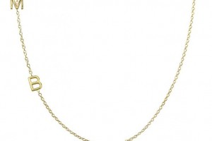 Jewelry , 7 Nice Maya Brenner Initial Necklace : skinny initial necklace