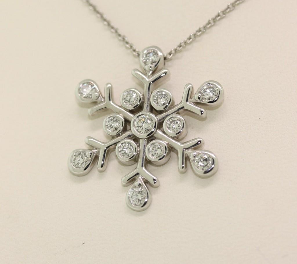 Jewelry , 7 Wonderful Tiffany Snowflake Necklace : Snowflake Diamond Necklace