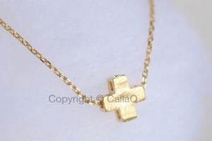 Jewelry , 8 Cool Sideway Cross Necklace Gold : square cross necklace