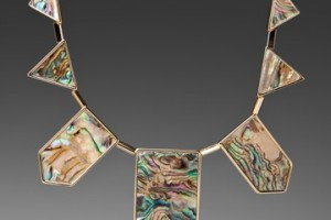 Jewelry , 8 Lovely House Of Harlow Abalone Necklace : station necklace in Abalone