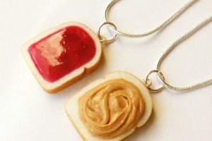 Jewelry , 8 Outstanding Peanut Butter And Jelly Necklaces : strawberry jam peanut butter necklaces