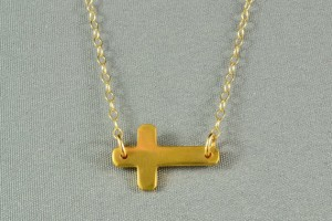 570x570px 6 Best Sideways Cross Necklace Meaning Picture in Jewelry