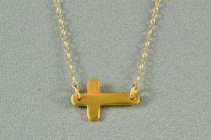 Jewelry , 6 Best Sideways Cross Necklace Meaning : the Sideways Cross Necklace