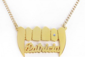 Jewelry , 8 Good 14K Nameplate Necklace : vamp nameplate necklace