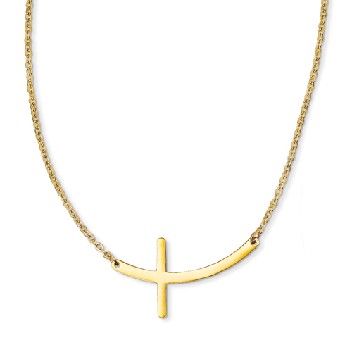 Jewelry , 6 Best Sideways Cross Necklace Meaning : Wearing Necklace
