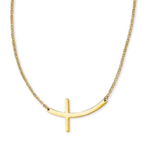 Jewelry , 6 Best Sideways Cross Necklace Meaning : Wearing Necklace