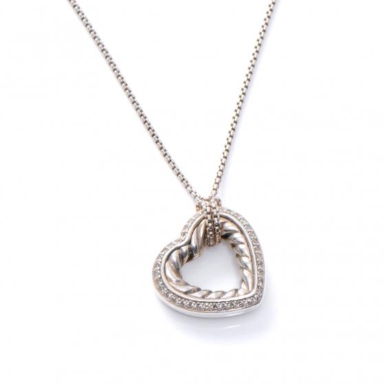 Jewelry , 7 Gorgeous David Yurman Heart Necklace : Yurman Sterling Silver Diamond