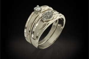 Jewelry , 14 Awesome Harley Davidson Wedding Rings : Wedding Band and Diamond Ring