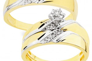 Jewelry , 10 Charming Cheap His And Her Wedding Ring Sets : Wedding Ring Set