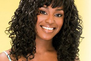 Hair Style , 9 Wonderful Short Curly Weave Hair : Bangs weave hairstyles