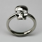 Bespoke Small Skull Ring , 9 Good Platinum Skull Ring In Jewelry Category