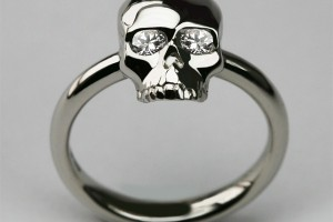 Jewelry , 9 Good Platinum Skull Ring : Bespoke Small Skull Ring