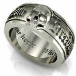 Bespoke silver skull , 9 Cool Skull Wedding Band In Jewelry Category