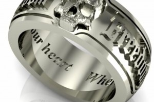 800x800px 9 Cool Skull Wedding Band Picture in Jewelry