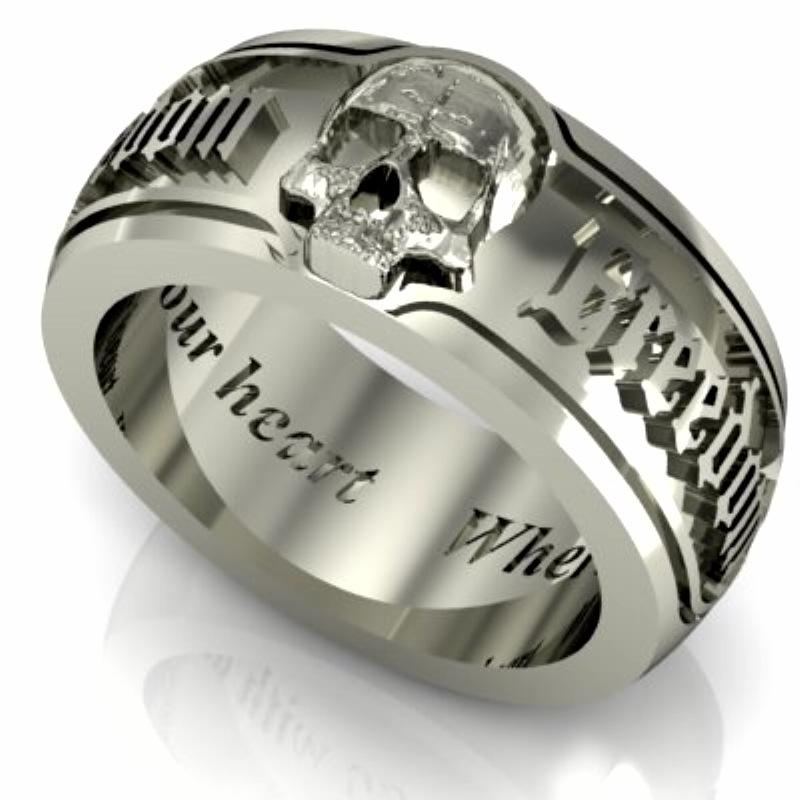 Bespoke Silver Skull 9 Cool Skull Wedding Band