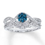 Blue Diamond Bridal Set , 9 Awesome Jared Wedding Sets In Jewelry Category