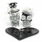 Dead Skull Cake Topper , 8 Lovely Skull Wedding Bands In Jewelry Category