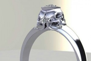 Jewelry , 8 Unique Skull Wedding Ring : Diamond Skull engagement