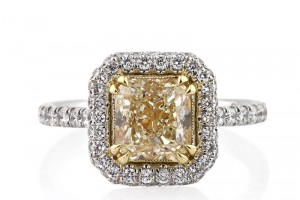 Jewelry , 8 Nice Wedding Rings On Ebay : Fancy Light Yellow Radiant Cut Diamond
