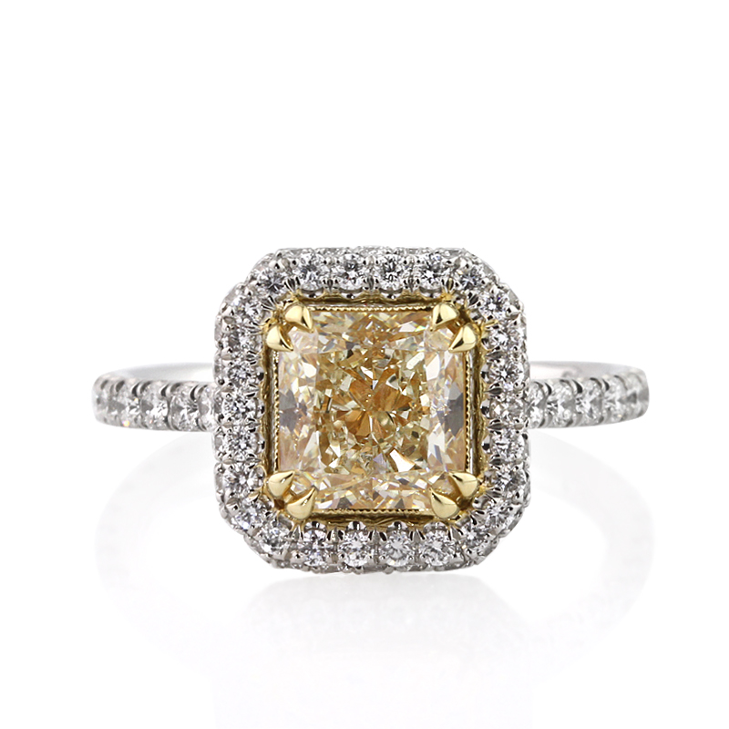 fancy light yellow radiant cut diamond 8 nice wedding rings on ebay woman fashion. Black Bedroom Furniture Sets. Home Design Ideas