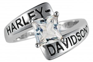 Jewelry , 9 Stunning Harley Wedding Rings : Harley Davidson Ladies Crossroads Birthstone Ring