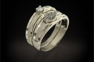 Jewelry , 9 Stunning Harley Wedding Rings : Harley Davidson Ring