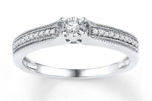Jewelry , 9 Awesome Kay Jewelers Rings For Women : Kay Jewelers Sterling Silver Promise Rings