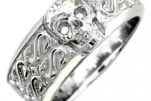 Jewelry , 9 Stunning Skull Wedding Bands For Men : Ladies Wide Skull Ring